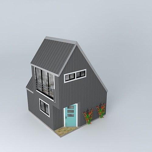 Tiny House 3d Model Max Obj 3ds Fbx Stl Dae 1 ...