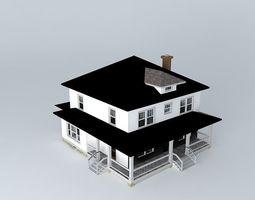 3d model foursquare house