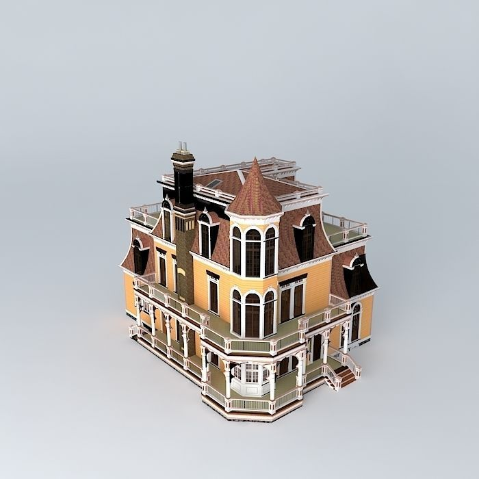 Victorian House 3d Model Max Obj 3ds Fbx Stl Dae 1