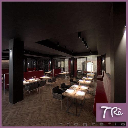 3d model restaurant lounge scene 16198 cgtrader for Restaurant 3d max