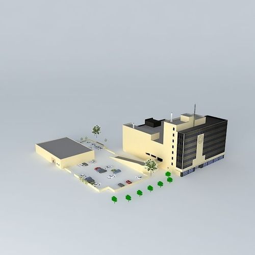 Police Headquarters Free 3d Model Max Obj 3ds Fbx Stl Dae
