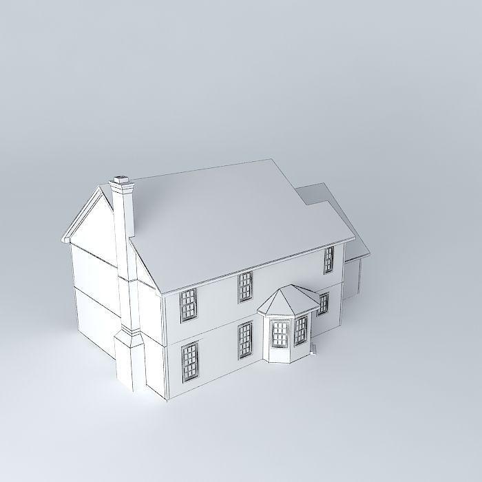 Colonial House 3d Model Max Obj 3ds Fbx Stl Dae 5