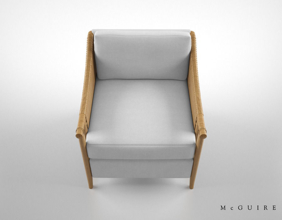 mcguire furniture bill sofield jolie lounge chair 3d model max obj fbx ...