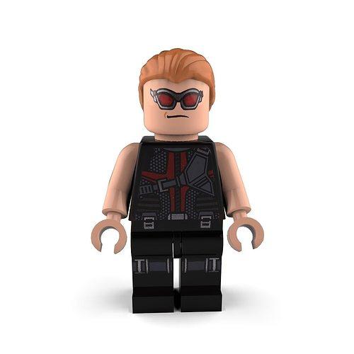 hawkeye lego 3d model max obj mtl 3ds c4d lwo lw lws ma mb 1