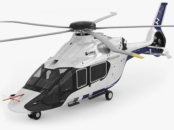 airbus helicopter h160 3d model rigged max obj mtl 3ds fbx c4d lwo lw lws 1