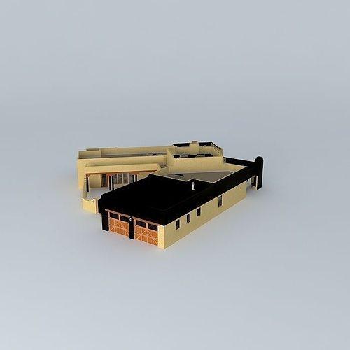 Pueblo Style House Free 3d Model Max Obj 3ds Fbx Stl Dae