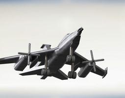 3d jet fighter prototype
