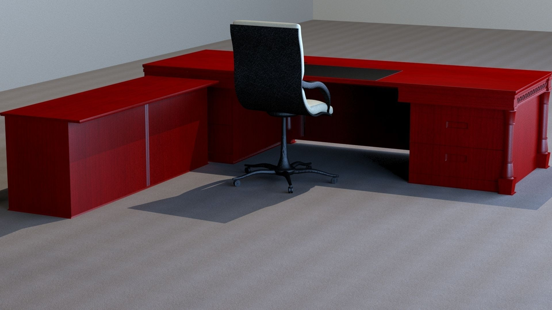 classic office desks. Classic Executive Veneer Desk With Office Furniture 3d Model Max Obj Mtl 2 Desks