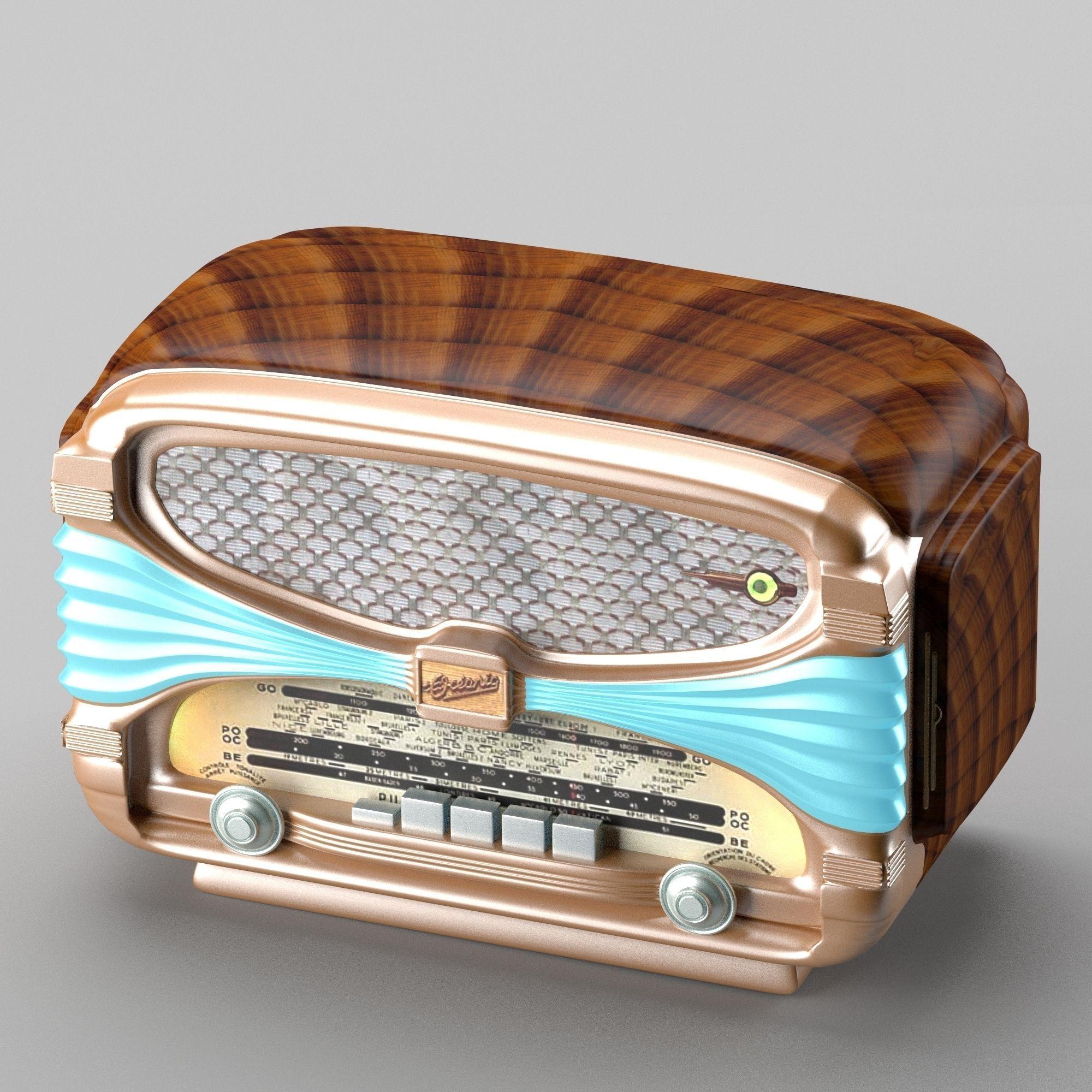 Retro radio in art deco style