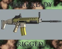 assault rifle 3d model fbx