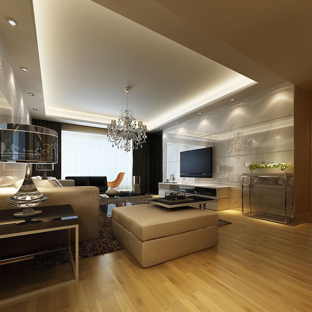 Photoreal Luxurious Flat Interior 3D Model MAX