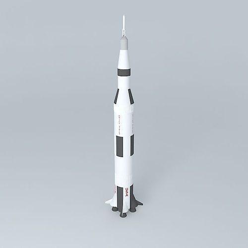 Saturn V Rocket 3D model   CGTrader