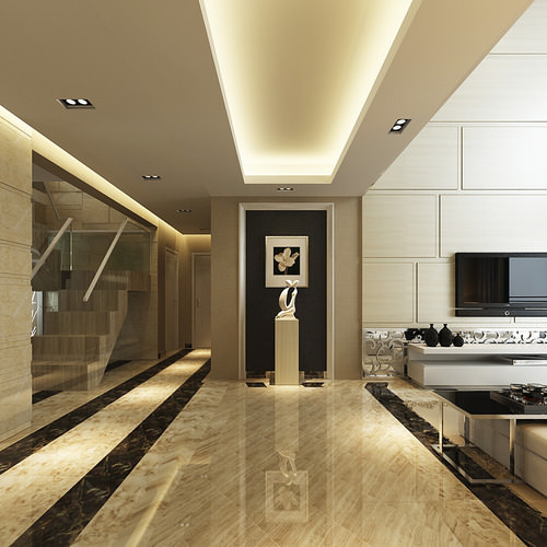 Luxurious High Ceiling House Interior Photoreal 3d Model