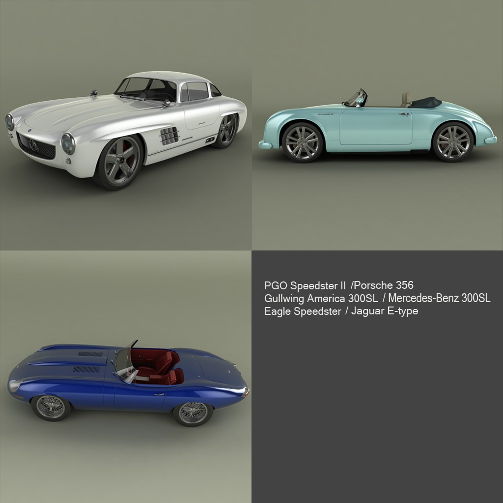 Model Neo Classic Cars Cgtrader