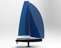 Sailing Yacht 50 ft 3D