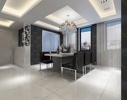 3D model Monochrome Flat Interior Photoreal