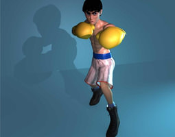 T Pose Punching Man Van Bram AAA 3D model