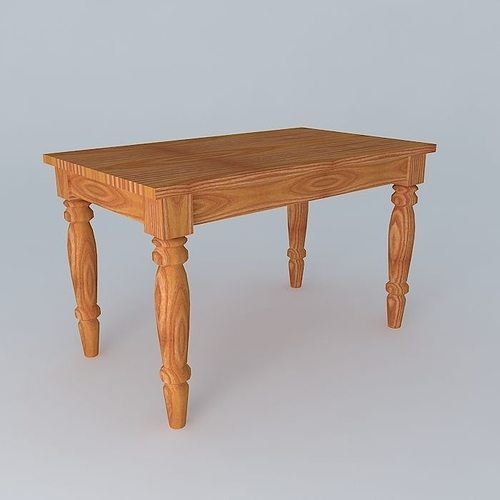 Old wooden table 3d model cgtrader for Table 3d model