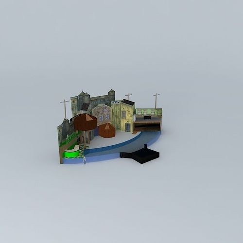 Canary Row Caper Sea Lion And Otter Stadiu... 3D Model MAX
