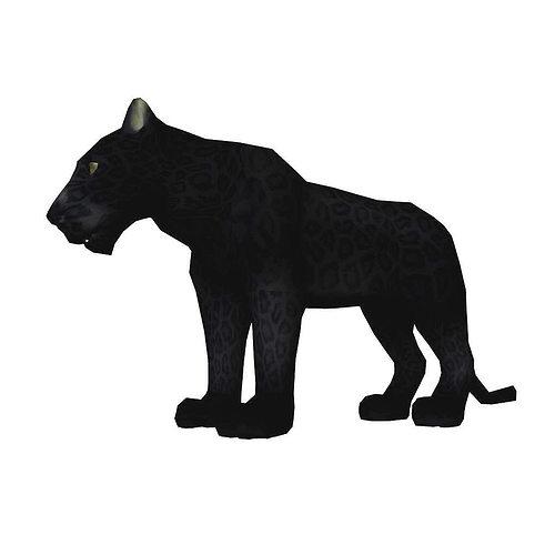 bagara panther aaa 3d model low-poly obj mtl ma mb 1