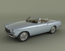 Volvo P1800 Convertible 3D Model