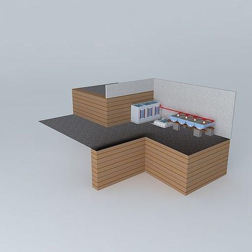 aquaponics system aquaponico 02 beira mar 1 tank 1 ibc 4 beds... 3d model max obj mtl 3ds fbx stl dae 1