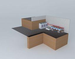 Aquaponics system Aquaponico 02 Beira Mar 1 Tank 1 IBC 4 beds of Barrels 3D Model