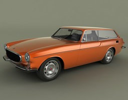 volvo p 1800 es 3d model max obj 3ds