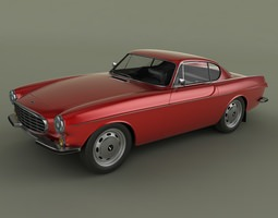 volvo p1800 s 3d model max obj 3ds