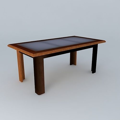 3d model dining table guernica cgtrader for Dining room table 3ds max