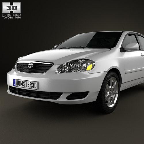 3D model Toyota Corolla E120 2005  CGTrader