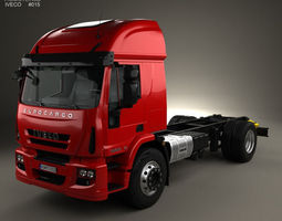 3D model Iveco EuroCargo Chassis Truck 2013