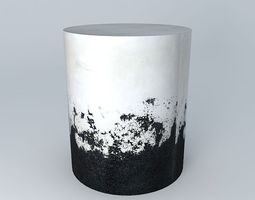 Black and White Side Table 3D