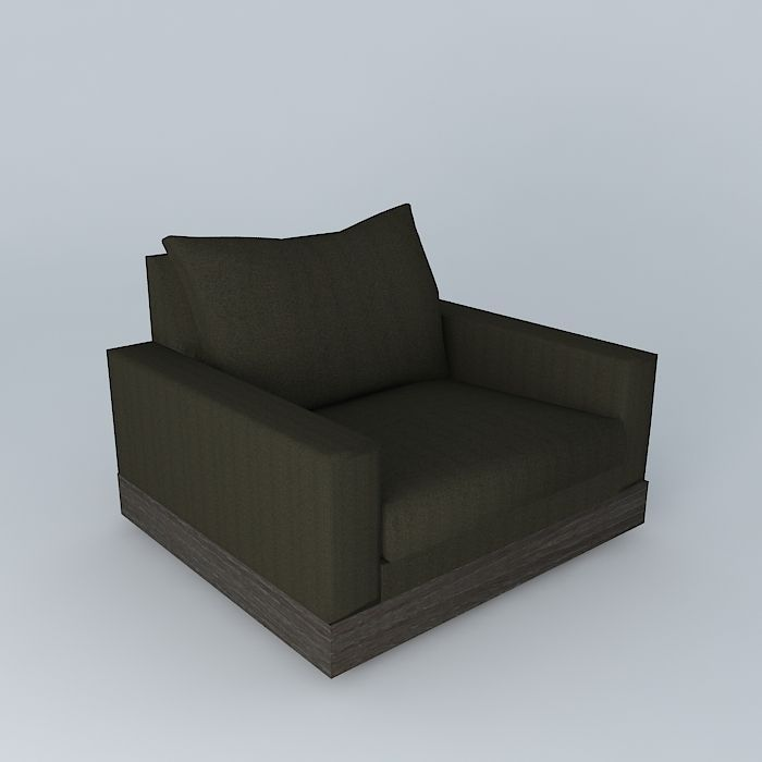 Gentil Side Block Sofa 3d Model Max Obj 3ds Fbx Stl Dae 1 ...