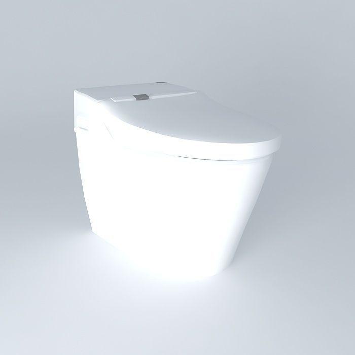 toto tankless toilet 3d model max obj 3ds fbx stl dae 1. Toto tankless toilet 3D model   CGTrader