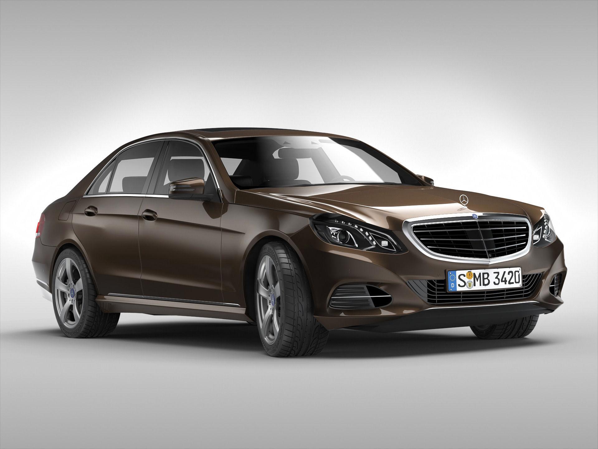 Mercedes benz e class 2014 3d model max obj 3ds fbx for 2014 mercedes benz models