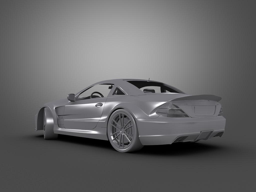 Mercedes benz sl65 amg black series 3d model max obj 3ds for Mercedes benz sl65 amg