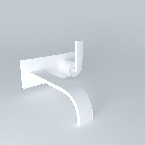 wall mounted faucet 3d model