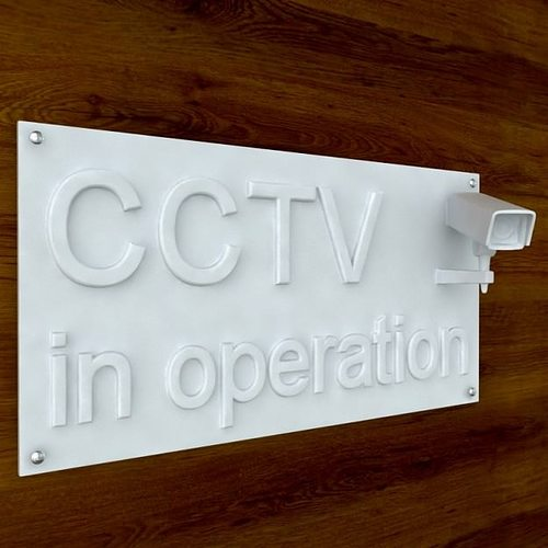 3d printable cctv sign stl obj 3d model obj stl 2