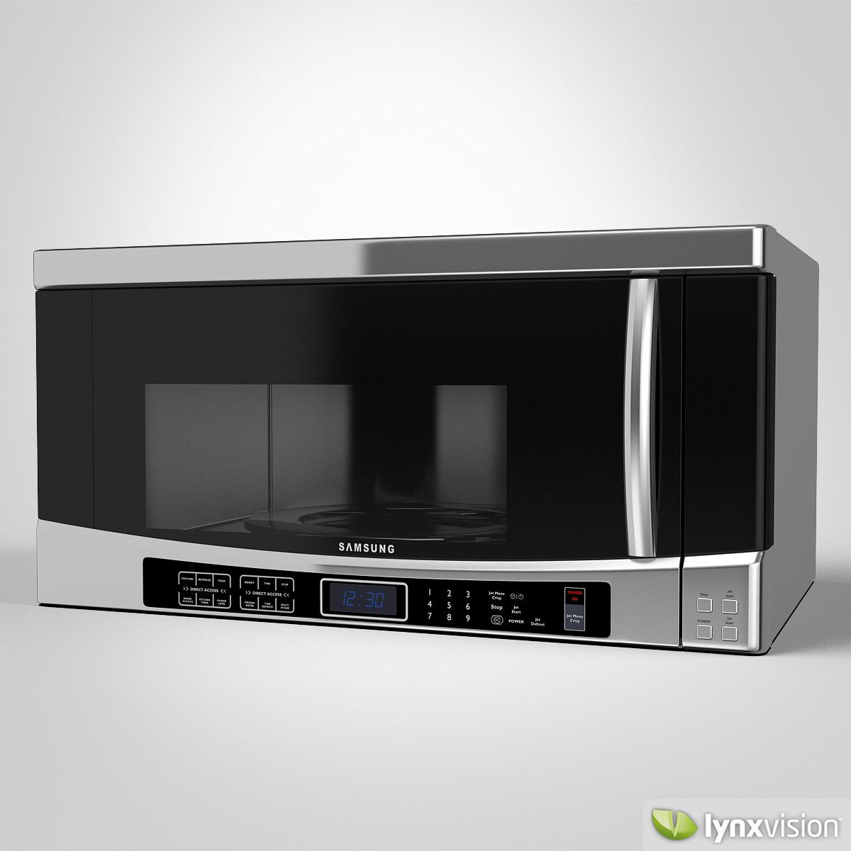 Samsung Microwave Model Max Obj Fbx Mtl 1
