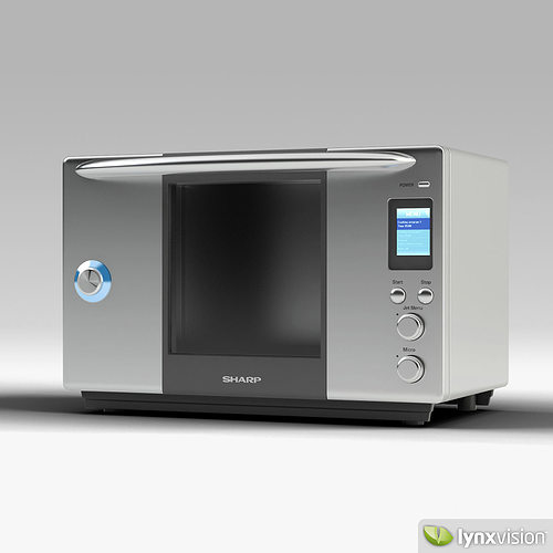 3d model sharp steam oven cgtrader