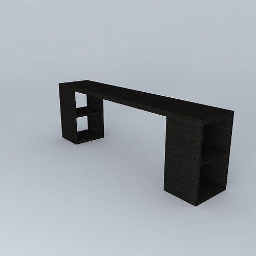 Bookshelf Console 3D Model