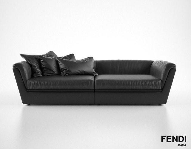 Fendi Casa Co Sofa Model Max Obj Mtl Fbx 1