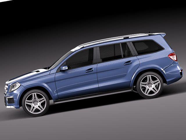 Mercedes benz gl class 2013 3d model max obj 3ds fbx c4d for Mercedes benz suv models 2013