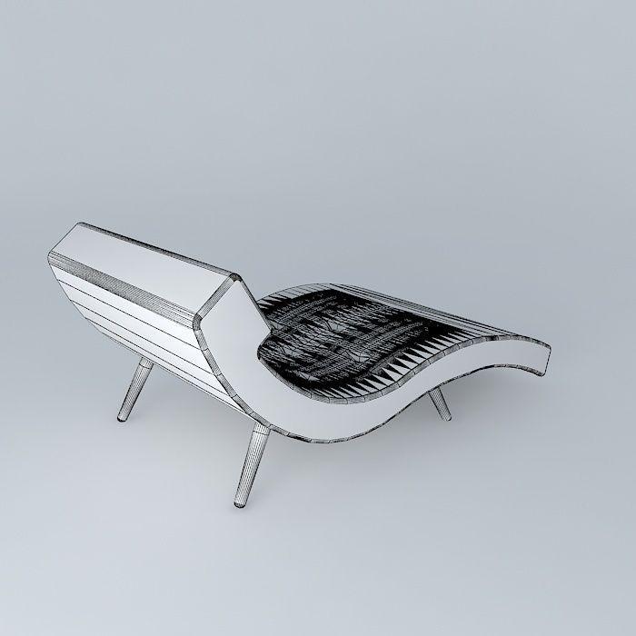 ... roark linen wave chaise lounge 3d model max obj 3ds fbx stl dae 4 ... : wave chaise - Sectionals, Sofas & Couches
