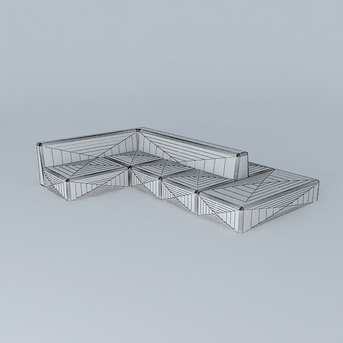 ... double sided sectional 3d model max obj 3ds fbx stl dae 4 ...