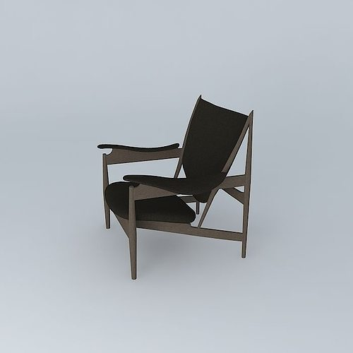 finn juhl chieftains chair 3d model cgtrader