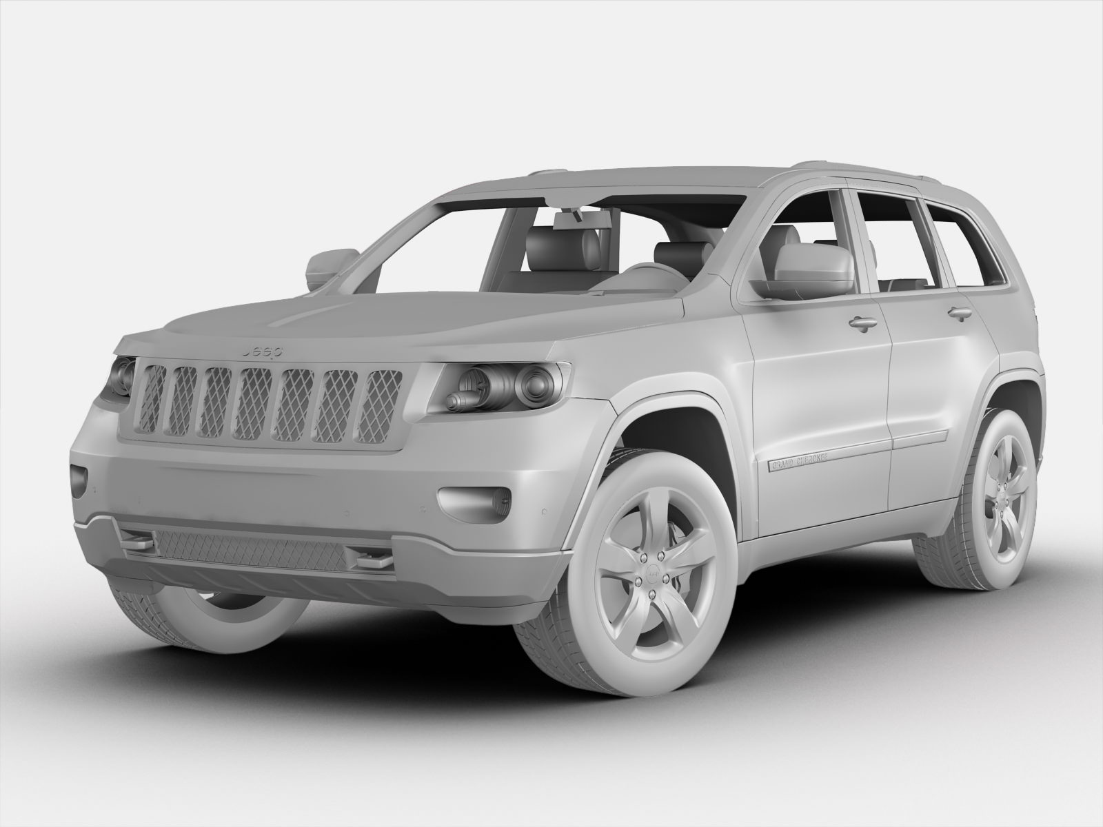 jeep grand cherokee 2012 3d model   cgtrader