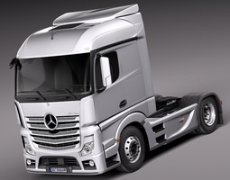 Mercedes Actros Truck 2014 3D Model