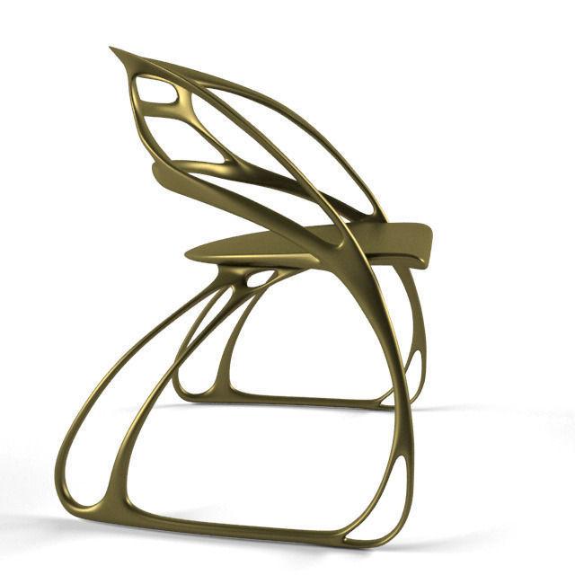 ... Butterfly Chair 3d Model Max Obj Fbx 4